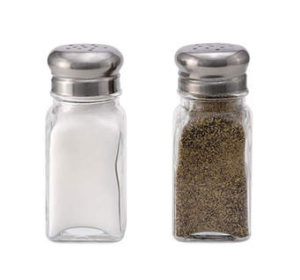 Salt and Pepper clear glass
