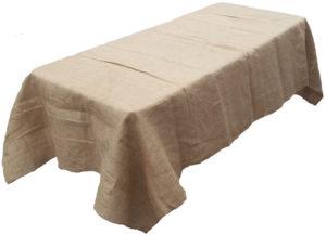 Burlap table cloth
