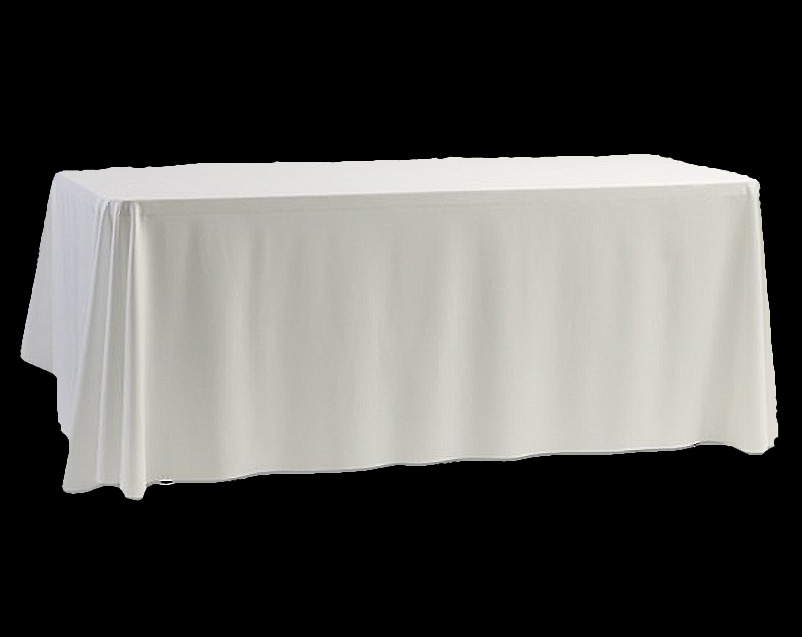 Table Cloth Plain White Linen 3m X 2m Hugo Party Hire