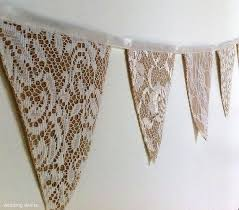 Bunting burlap and lace
