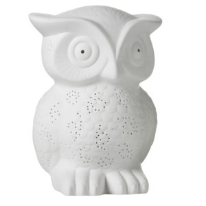 Ceramic owl ligh small