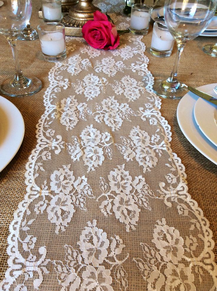 new specials purchase cheap genuine shoes Lace table runner 2m x 50cm