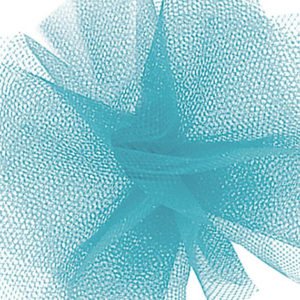 Tulle draping turquoise