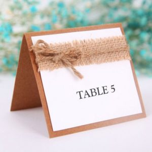 Table number hessian on paper