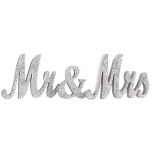 Mr & Mrs silver sign
