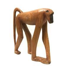 baboon decor wood 10cm high