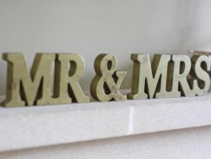 Gold Mr & Mrs