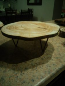 wooden cake stands 25cm