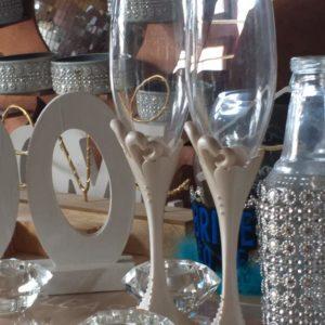 Mr&Mrs champaigne glasses