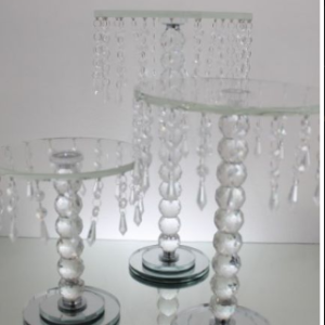 crystal beaded cake stand 26cm
