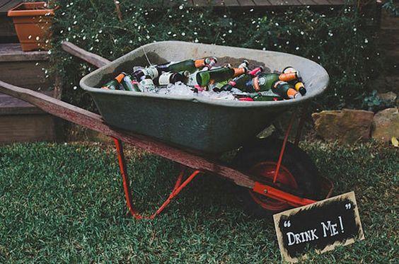 Drinks on a Wheelbarrow