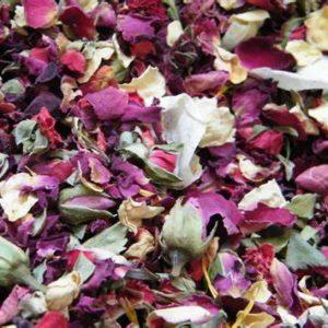Confetti dried flowers